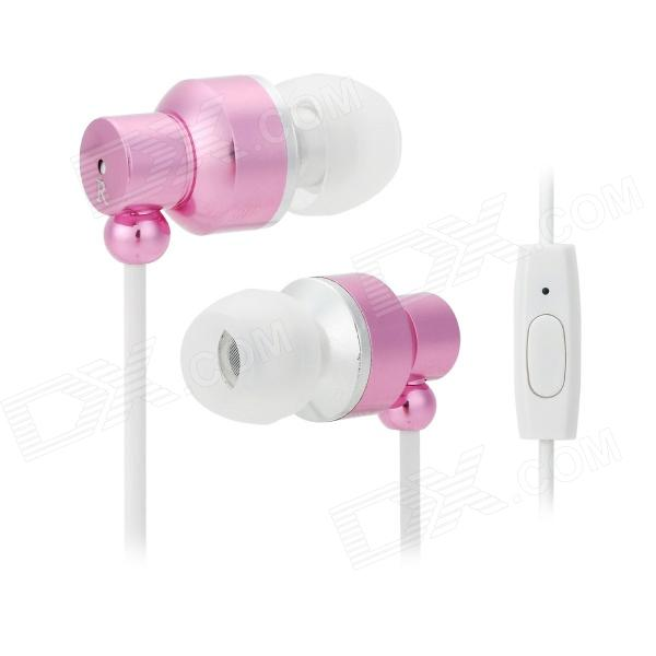 JUNEROSE JR-i710 In-Ear Stereo Earphone w/ Microphone for Iphone / Samsung / HTC - Pink + White дефлекторы окон skyline nissan primera p10 sd 90 97 комплект 4шт sl wv 300