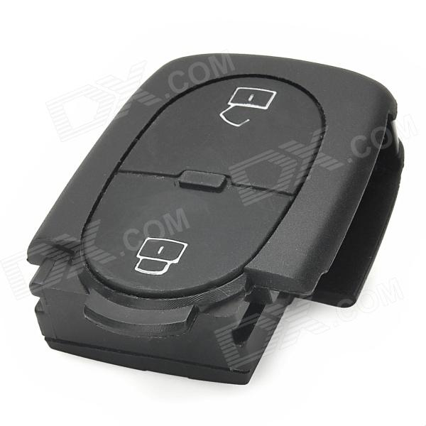 AML030996 Replacement Two-key Remote Control Plastic Case for Audi Car - Black