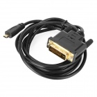 Micro HDMI Male to DVI Male Data Cable for Cellphones / Tablets + More - Black + Golden (1.8m)