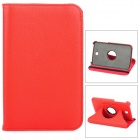 Lychee Pattern 360 Degree Rotation PU Leather Case for Samsung Galaxy Tab 3 P3200 - Red