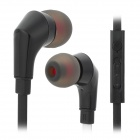 JUNEROSE JR-i810 In-Ear Stereo Earphone w/ Microphone for Iphone / Samsung / HTC - Black + White