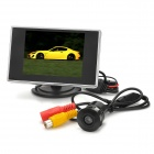 "35A225 3.5"" 4:3 Digital Display + 22.5mm Slot CMOS Rear View Parking Camera Set - Black + Silver"