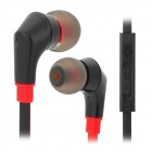 JUNEROSE JR-i810 Stereo In-Ear Earphones w/ Microphone / Volume Control - Black + Red