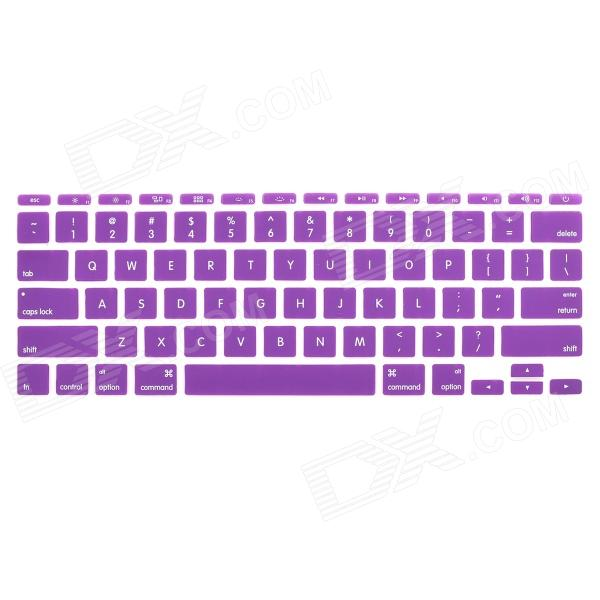 Protective Silicone Keyboard Cover Skin Guard for MacBook Air 11.6 - Purple one piece 1x brand new high quality silicon protective skin case cover for xbox 360 remote controller blue green mix color