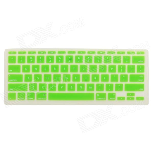 Protective Silicone Keyboard Cover Skin Guard for MacBook Air 11.6 - Green one piece 1x brand new high quality silicon protective skin case cover for xbox 360 remote controller blue green mix color