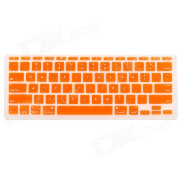 Protective Silicone Keyboard Cover Skin Guard for MacBook Air 11.6 - Orange one piece 1x brand new high quality silicon protective skin case cover for xbox 360 remote controller blue green mix color