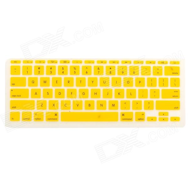Protective Silicone Keyboard Cover Skin Guard for MacBook Air 11.6 - Yellow one piece 1x brand new high quality silicon protective skin case cover for xbox 360 remote controller blue green mix color