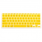 "Protective Silicone Keyboard Cover Skin Guard for MacBook Air 11.6"" - Yellow"