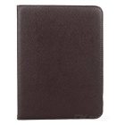 Lychee Pattern 360 Degree Rotation PU Leather Case for Samsung Galaxy Tab 3 10.1 P5200 - Dark Brown