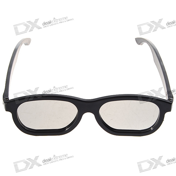 Re-useable Plastic Frame and Lens Polarized 3D Glasses