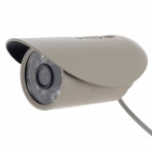 "Paisan PS-673AP 1/3"" CCD 480TVL 60' Wide Angle PAL Surveillance Security Camera w/ 12-IR LED - Beig"