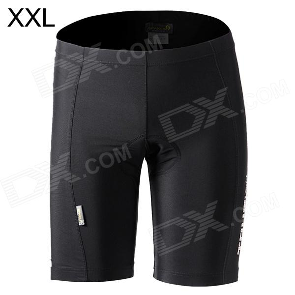 Spakct S13T08 Outdoor Sport Cycling Polyamide + Elastane Shorts for Men - Black (Size XXL)