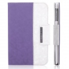 ENKAY ENK-3338 360 Degree Rotation Protective PU Leather Case for Ipad MINI - Purple + White