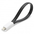 Magnetic USB to 8-Pin Lightning Data/Charging Cable for iPhone 5 / iPad 4 / Mini - Black + White