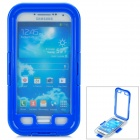 Professional Plastic Diving Case w/ Strap for Samsung S4 / i9500 - Blue + Transparent