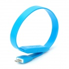 Bracelet Style USB to 8pin Lightning Data Sync & Charging Flat Cable - Blue (26cm)