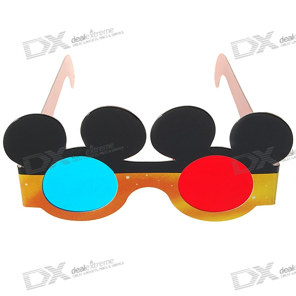 Disposable Anaglyphic Red + Blue 3D Glasses for Children (Assorted)