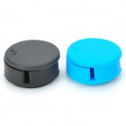 Cute Earphones Cable Organizer Winder + Screen Cleaner - Black + Blue (2 PCS)