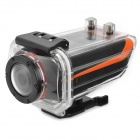 "AT90 1.5"" LCD 5MP CMOS 1080P HD 170 Degree Waterproof Sports Camera w/ IR Remote - Black + Orange"