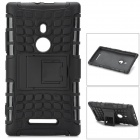 Cool Anti-Slip Protective TPU + PC Back Case w/ Stand for Nokia Lumia 925 - Black