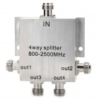 Professional 1-to-4 Type-N Connector Female Wireless Signal Splitter - Silver