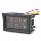 Medição de corrente de tensão DC de Digital miNi 0-100V/100A / Red + Blue LED Display duplo + Shunt