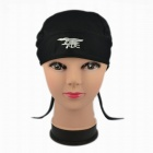 Cool Quick Dry Outdoor Sports Cap w/ Tie - Black