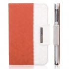 ENKAY ENK-3338 360 Degree Rotation Protective PU Leather Smart Case for Ipad MINI - Orange + White
