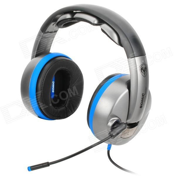 SOMIC G989HD USB Wired Physics 7.1-Channel Gaming Headphones w/ Vibration Microphone / Cable Control