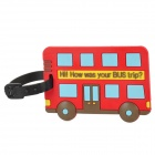 AX-80213 Bus Style Travel PVC Bag / Luggage Tag w/ Strap - Red + Black