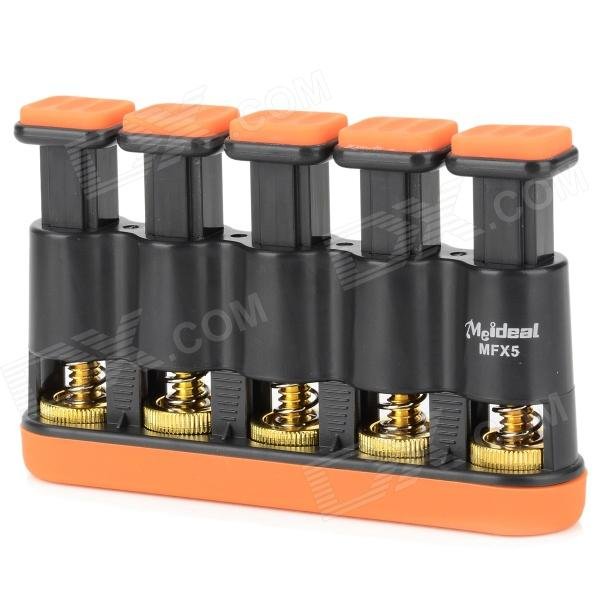 MMS02 5-key Guitar Bass Piano Hand Finger Exerciser Trainer Grip - Orange + Black adjustable finger exerciser and hand strengthener for guitar guitar bass ukulele piano saxophone violin players amu mf4 1