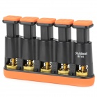MMS02 5-key Guitar Bass Piano Hand Finger Exerciser Trainer Grip - Orange + Black