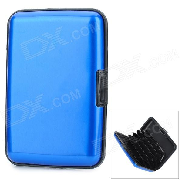 Aluminum Alloy Bank / Credit Card Case Holder Box - Blue