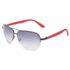 Fashion Outdoor Travel UV400 Protection Women's Sunglasses - Black + Red