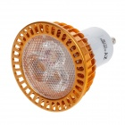 ZIYU ZY-D-320 GU10 3W 260lm 3000K Warm White Light COB LED Light Bulb - Golden (85~265V)