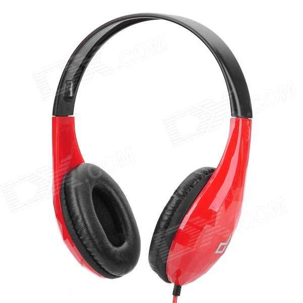 Ditmo DM-5300 Stereo Headset Headphone w/ Microphone - Red + Black ditmo dm 6670 3 5mm plug in ear earphone w microphone for cellphone black red white