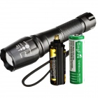 SingFire SF-105 800lm 5-Mode Zooming Flashlight Torch w/ CREE XM-L T6 - Black (3xAAA / 1x18650)