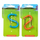 NatureHike Multifunction S-Shaped Aluminum Alloy Quick Release Carabiner - Blue + Orange (2 PCS)