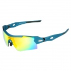 ESDY 0095AC Outdoor Sports UV Protection PC Frame Lens Sunglasses w/ Replacing Lens - Blue