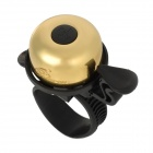OQsport 304 Copper Bicycle Bell Ringer w/ Strap Mount - Golden + Black