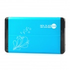 "Portable Aluminum Alloy USB 3.0 2.5"" SATA HDD Case - Cyan + Black"