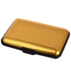 Aluminum + Plastic Storage Case for Credit Card / Name Card - Golden + Black