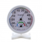Pointer Indoor Household Electronic Thermometers & Hygrometer w/ Bracket - White