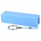 Portable 2600mAh Mobile Power Charger w/ Flashlight Head - Blue