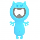 81227 Creative Big Mouth Devil Style Silicone + Stainless Steel Bottle Opener - Blue