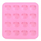 3D Pig Pattern 16-in-1 Silicone Ice / Jelly / Cake / Chocolate Mold - Pink