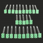 20762 Adjustable Cable Ties w/ Adhesive Tape - White + Green (25 PCS)