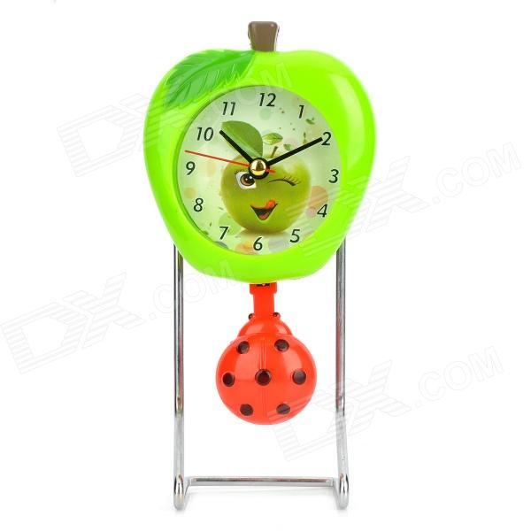 Fashion C1GL Apple and Beetle Style Swing Clock - Green