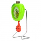 Fashion Apple and Beetle Style Swing Clock - Green