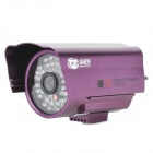 "SpecialVisual SV-507 CCTV 48 IR LED IP66 Waterproof 1/3.7"" CCD Camera - Purple  (PAL / DC12V)"